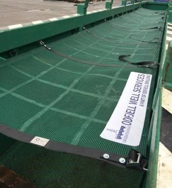 Webnetting and galvanised chain solutions for offshore equipment